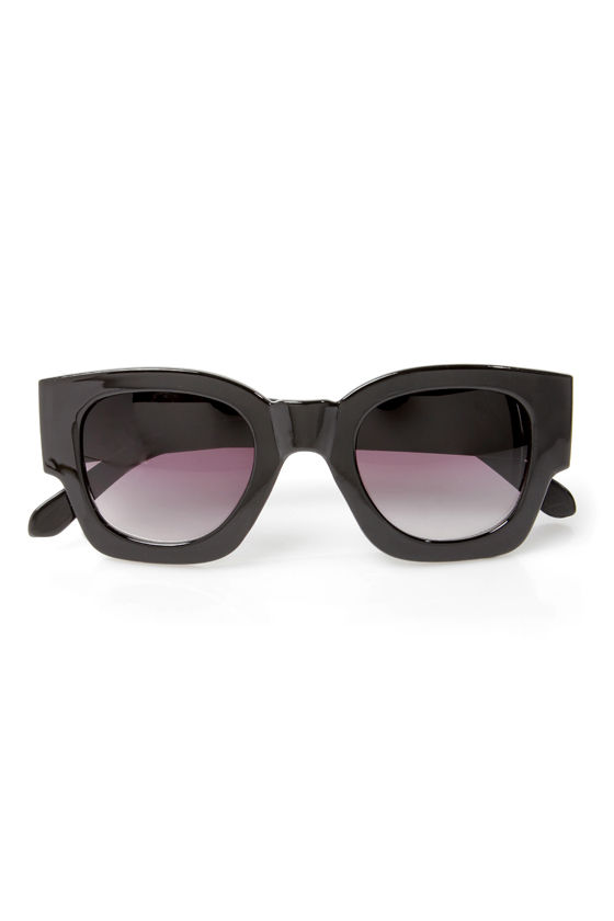 Beverly Hills Black Sunglasses at Lulus.com!
