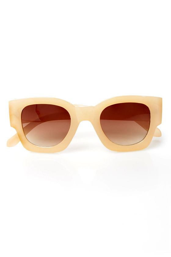 Beverly Hills Cream Sunglasses at Lulus.com!