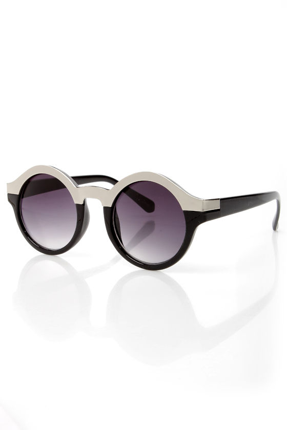 Specs Mix Silver and Black Sunglasses at Lulus.com!