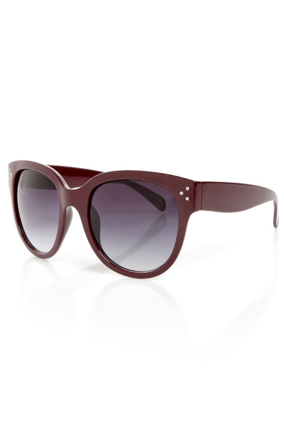 In Sun Respects Burgundy Sunglasses at Lulus.com!
