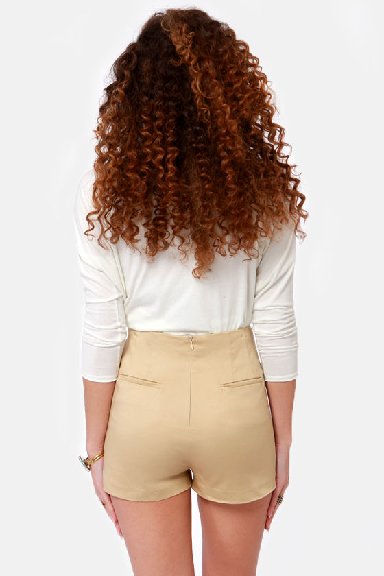 Morning Java Beige High-Waisted Shorts at Lulus.com!
