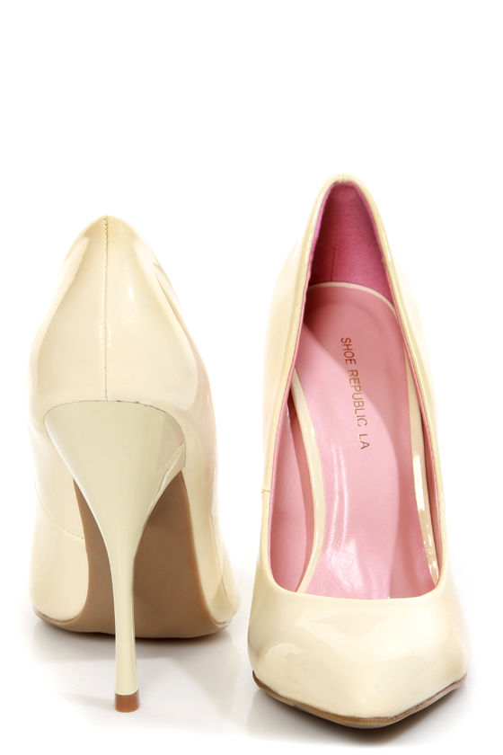 Shoe Republic LA Ethel Nude Patent Pointed Pumps at Lulus.com!
