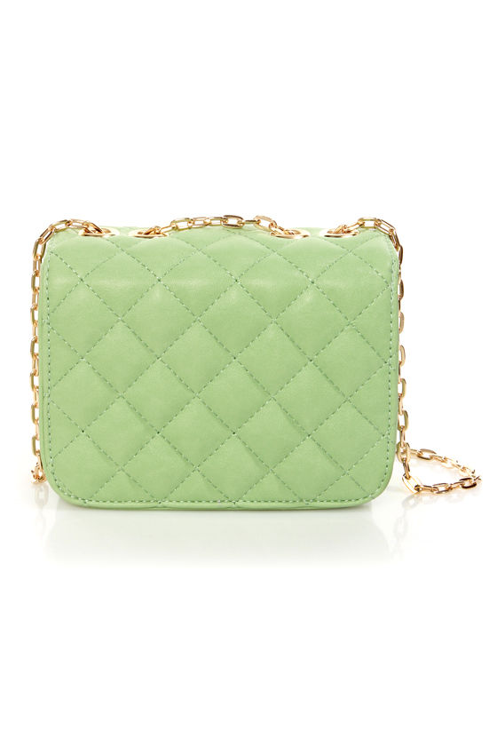 In So Mini Words Quilted Mint Purse at Lulus.com!