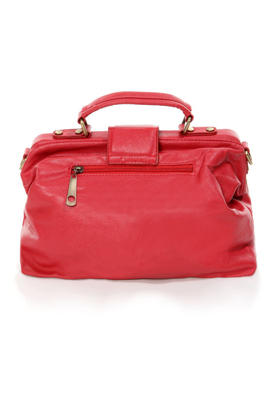 Red Leather Day Structured Red Handbag at Lulus.com!