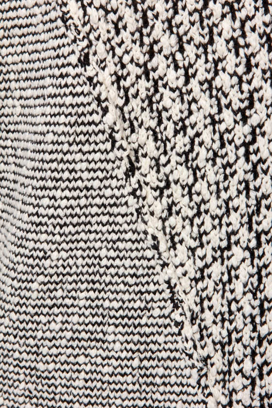 Static Fling Black and White Sweater at Lulus.com!