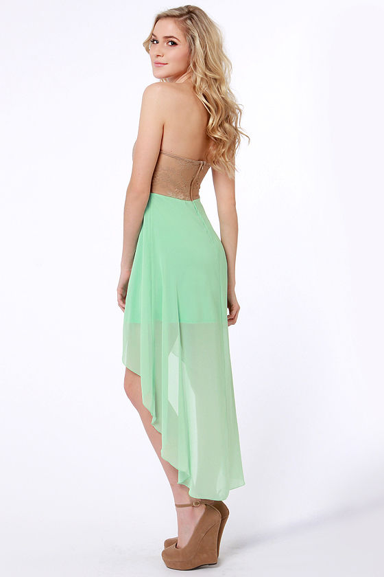 Modish of the Day Brown and Mint Green Dress at Lulus.com!