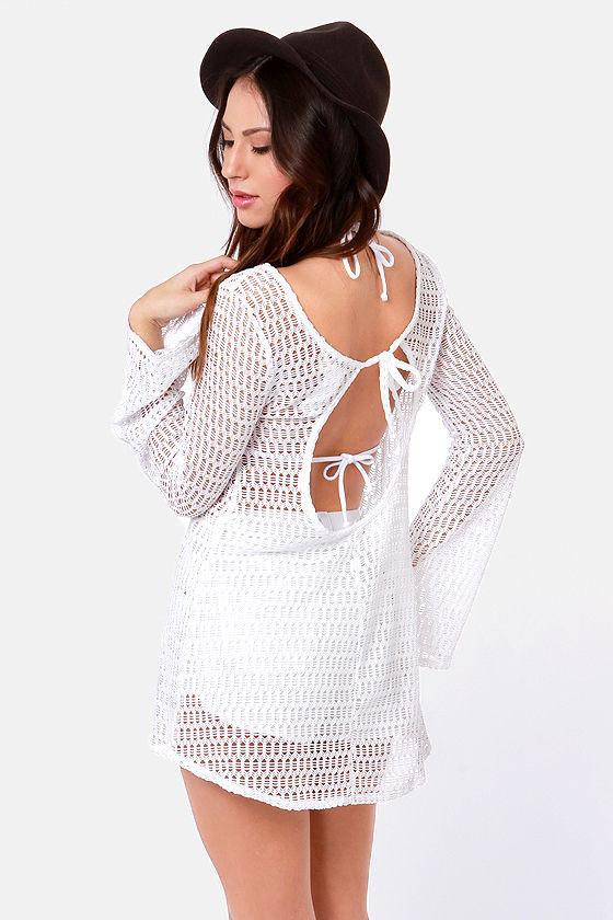 Roxy Sweet Terrain White Mesh Cover-Up at Lulus.com!