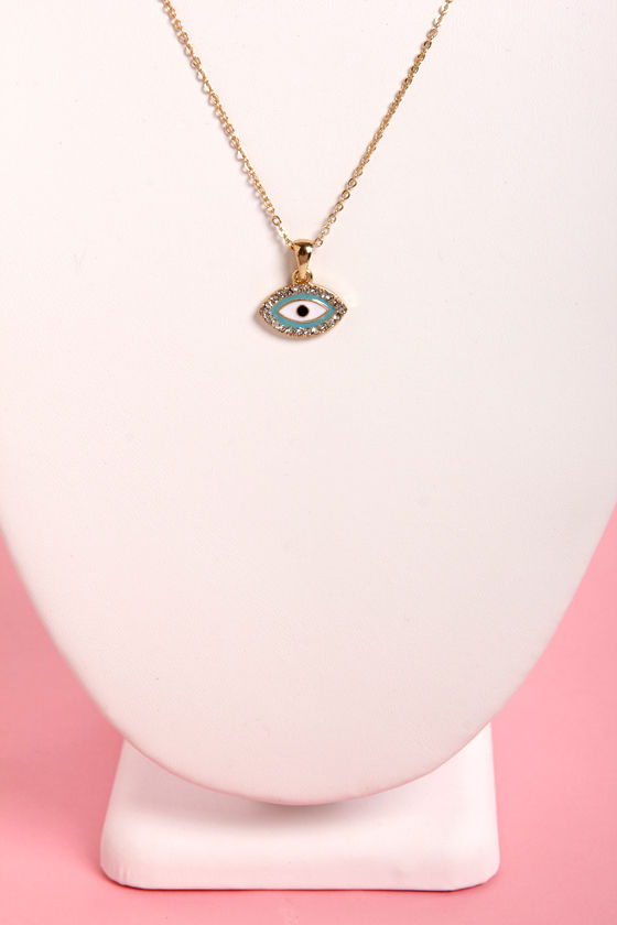 Eye in the Sky Blue Eye Necklace at Lulus.com!