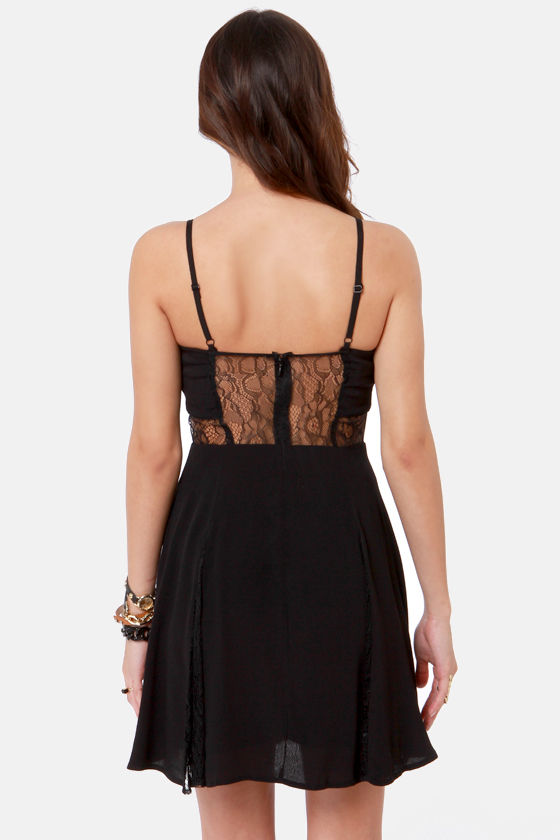 By the Lace-Sides Black Lace Dress at Lulus.com!