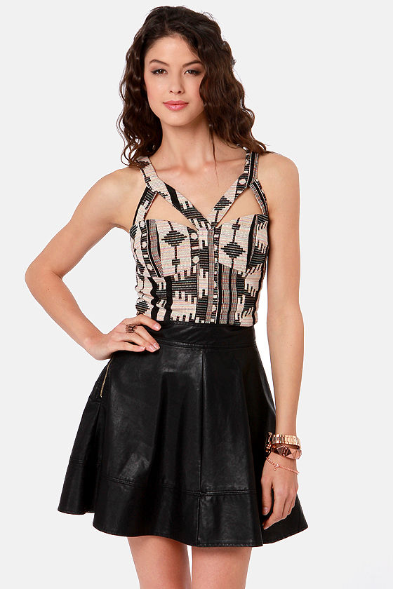 Desert Drive Tribal Print Bustier Top at Lulus.com!