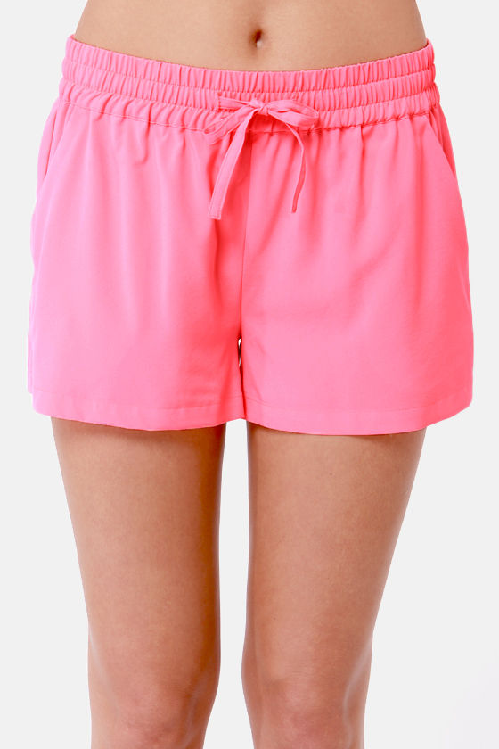 BB Dakota by Jack Jilliane Neon Pink Shorts at Lulus.com!