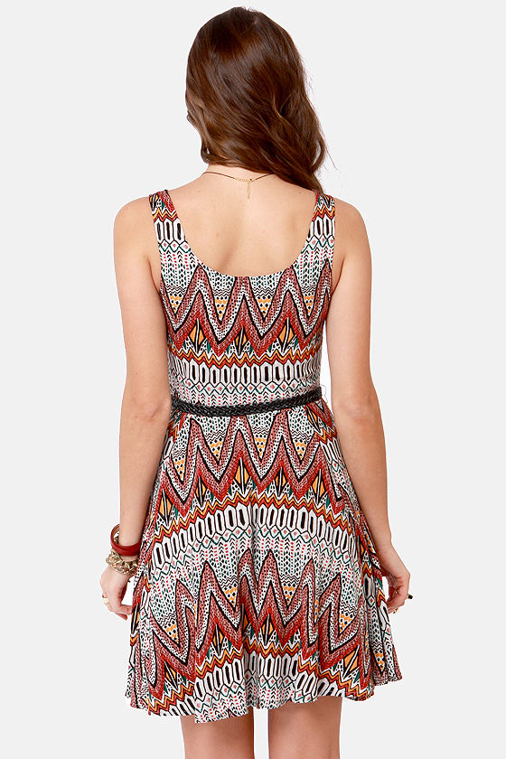 BB Dakota by Jack Audrian Tribal Print Dress at Lulus.com!