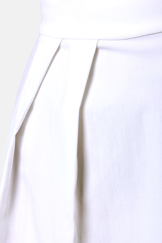 Floating on Flare White Halter Dress at Lulus.com!