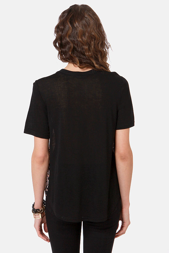 String You Along Black Print Top at Lulus.com!