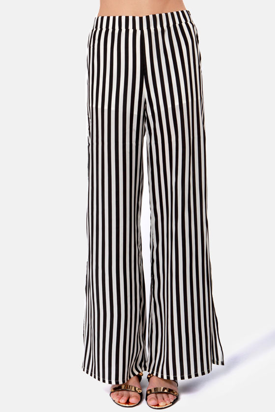 Jailhouse Rock Black and Ivory Striped Pants at Lulus.com!