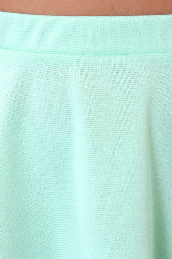 Any Way You Want It Mint Blue Skater Skirt at Lulus.com!
