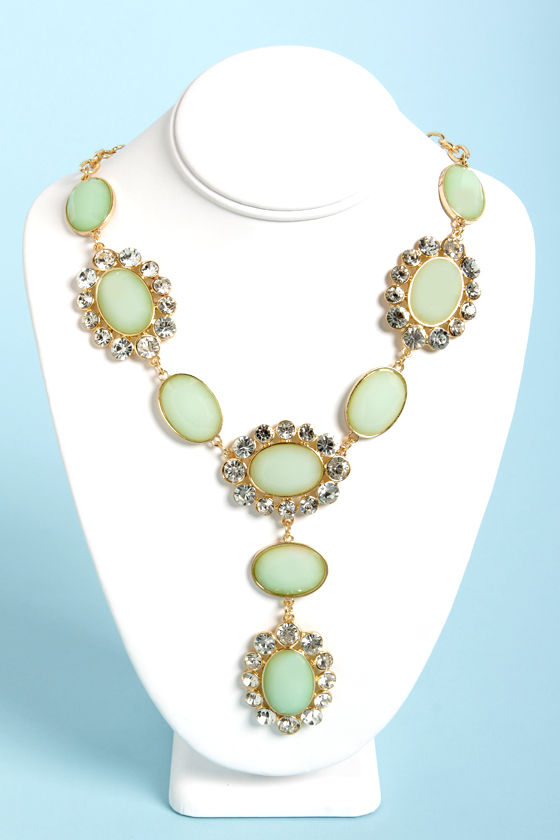Ice-Capade Mint Green Statement Necklace at Lulus.com!