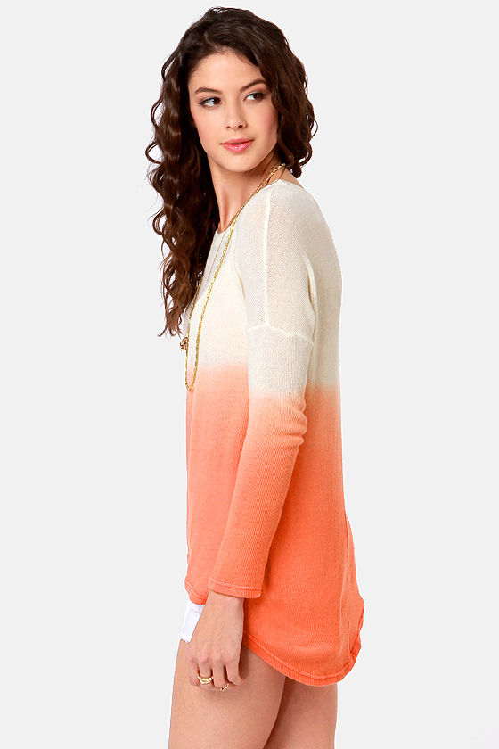 LULUS Exclusive This Kiss Ivory and Peach Ombre Sweater at Lulus.com!