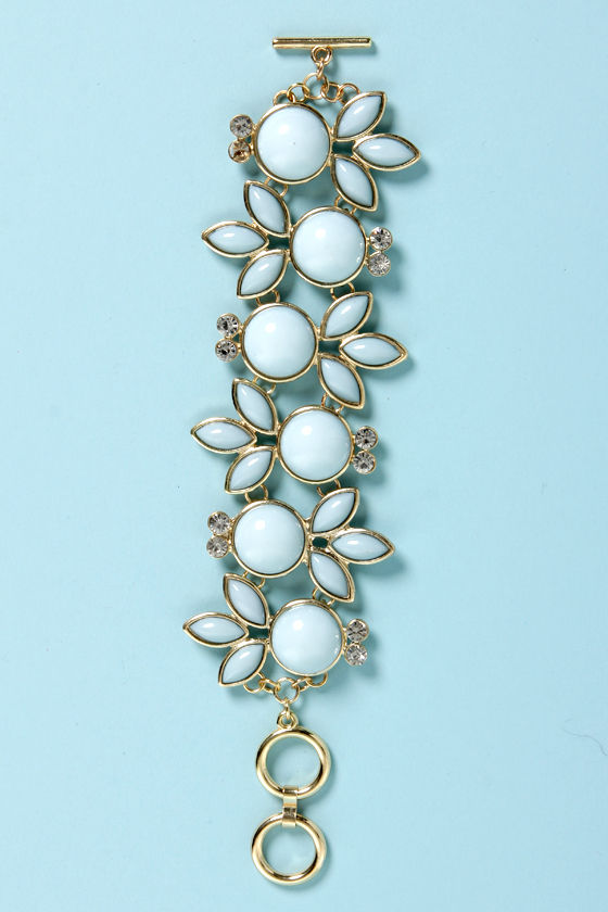 Foliage of Innocence Blue Bracelet at Lulus.com!