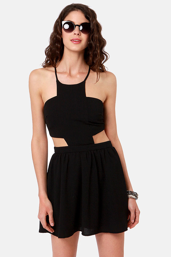 Race Against Time Backless Black Dress at Lulus.com!