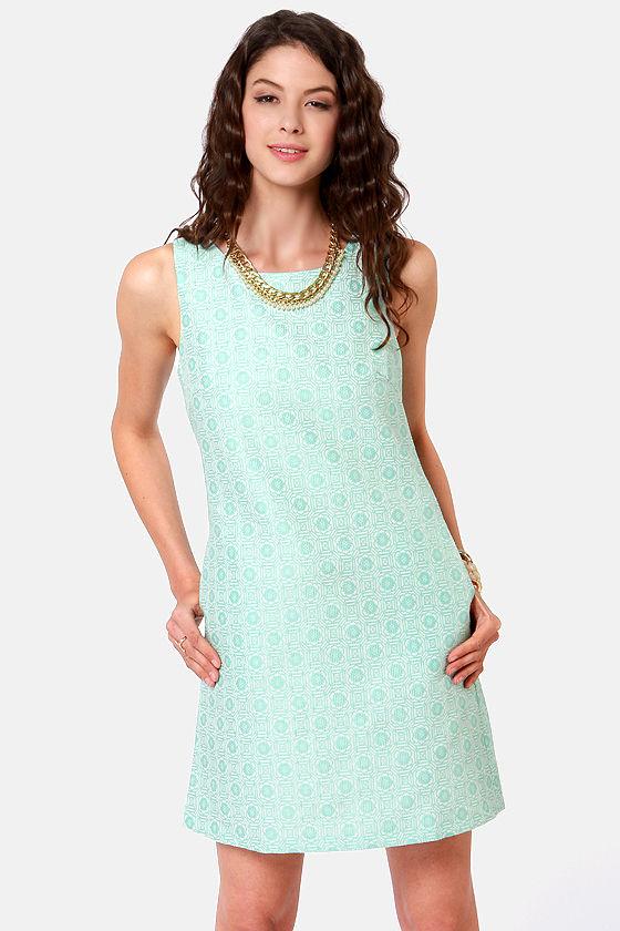 Brocade You Look! Mint Blue Sheath Dress at Lulus.com!