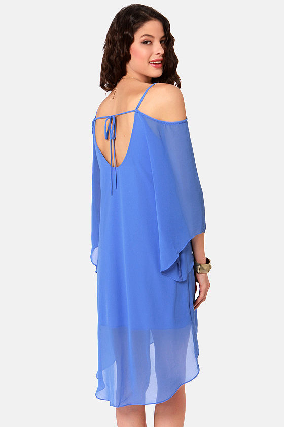 Goddess Next Door Off-the-Shoulder Blue Dress at Lulus.com!