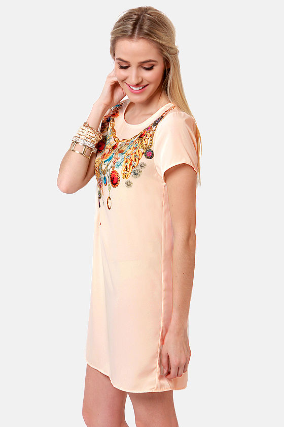 More Is More Cream Print Dress at Lulus.com!