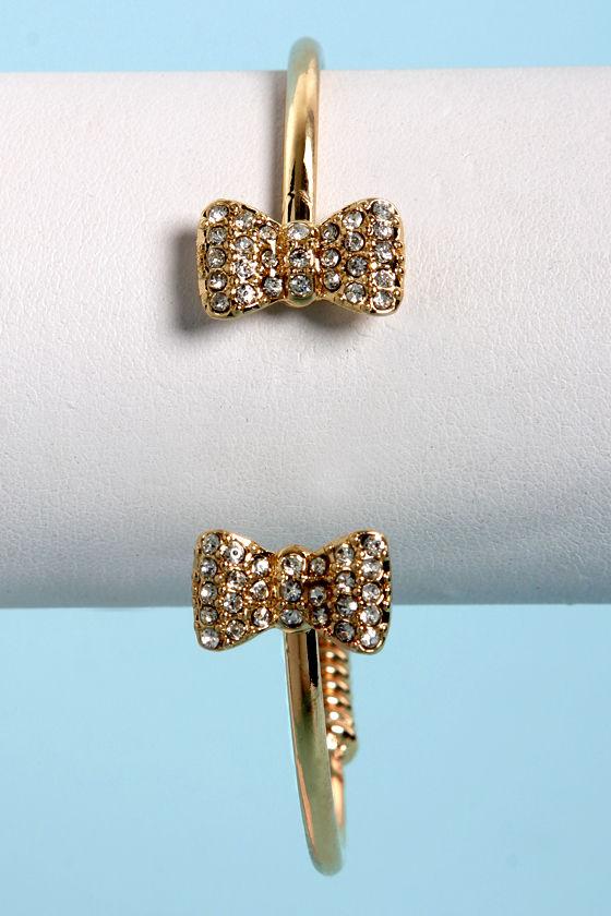 Sweet Spring Gold Rhinestone Bracelet at Lulus.com!