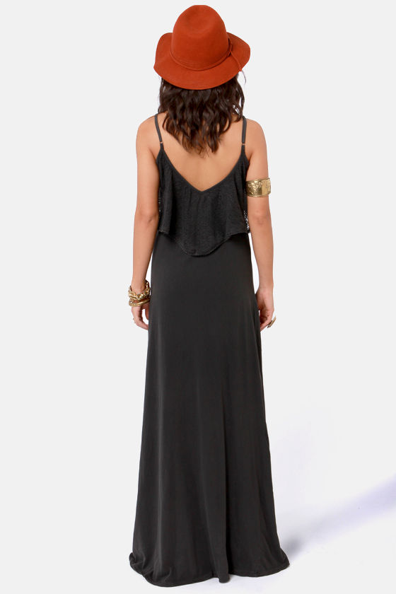 O'Neill Queensland Washed Black Lace Maxi Dress at Lulus.com!