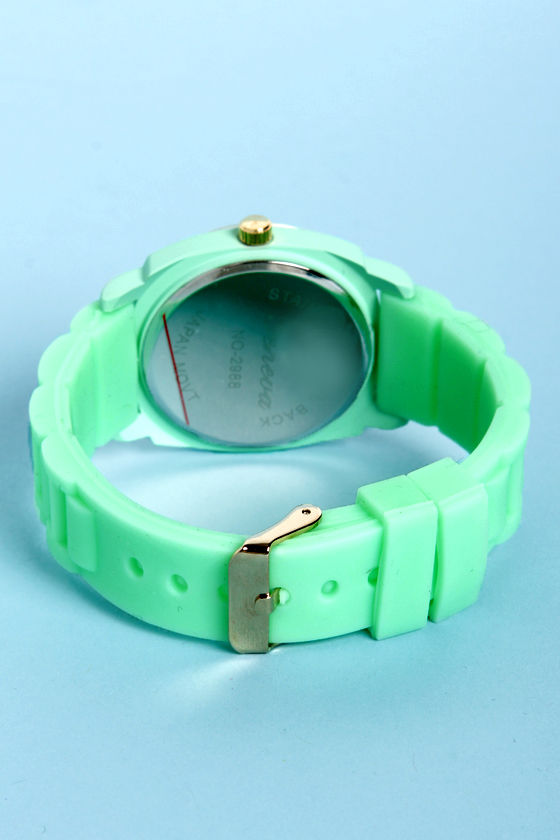 Jelly Bean Soft Mint Green Watch at Lulus.com!