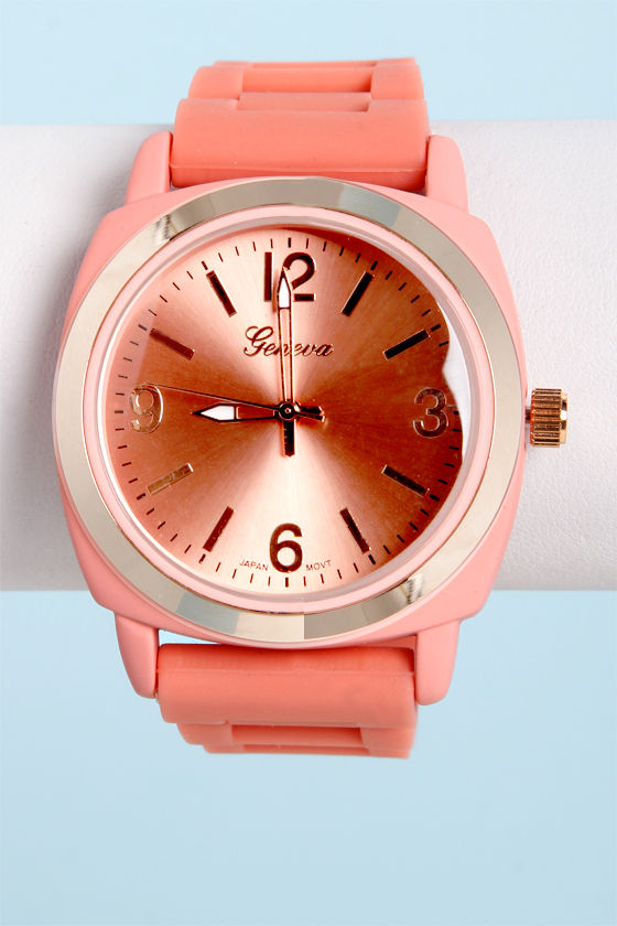 Jelly Bean Soft Coral Watch at Lulus.com!
