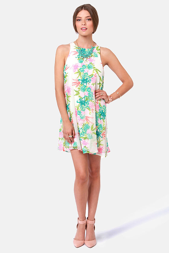 Awesome Blossom Floral Print Dress at Lulus.com!