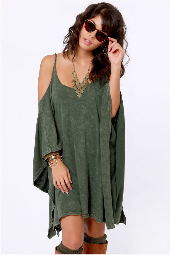 LULUS Exclusive Fair Play Washed Green Dress at Lulus.com!