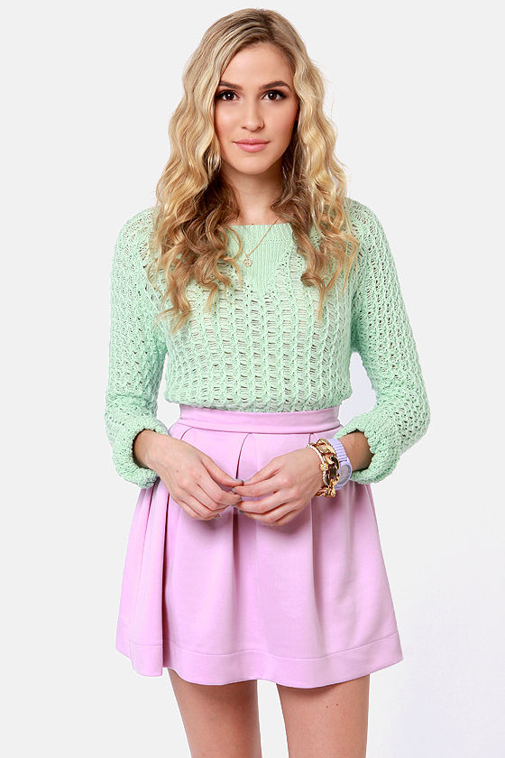 Everything Illuminated Lavender Skirt at Lulus.com!