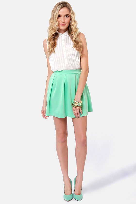 Everything Illuminated Mint Green Skirt at Lulus.com!