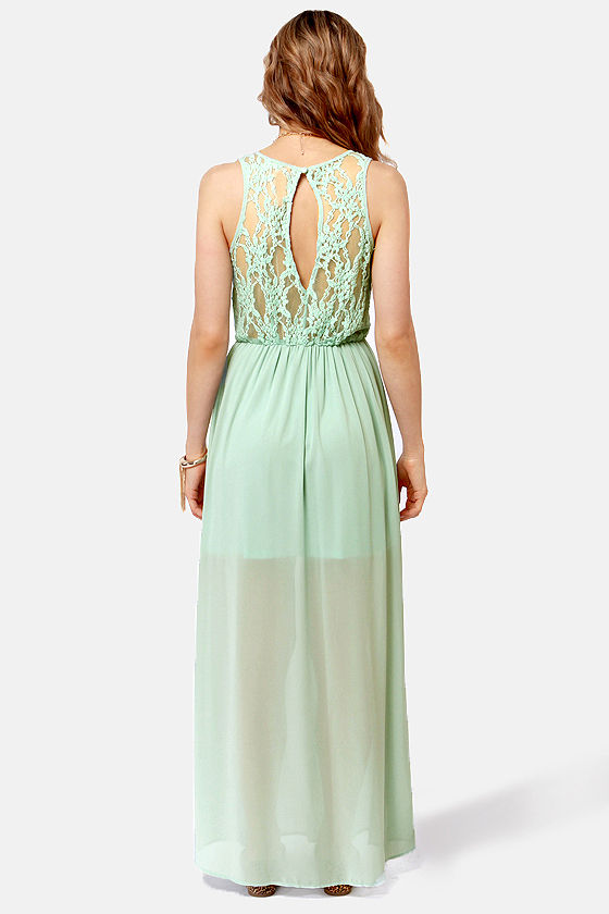 In Between Dreams Sage Green Lace Maxi Dress at Lulus.com!