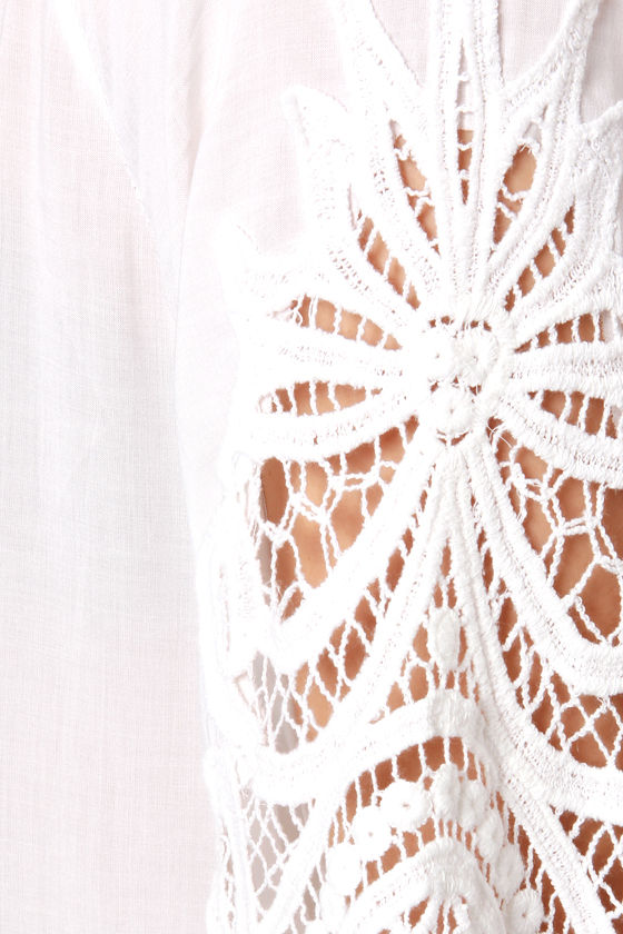 Bohemian Rhapsody Crocheted White Top at Lulus.com!