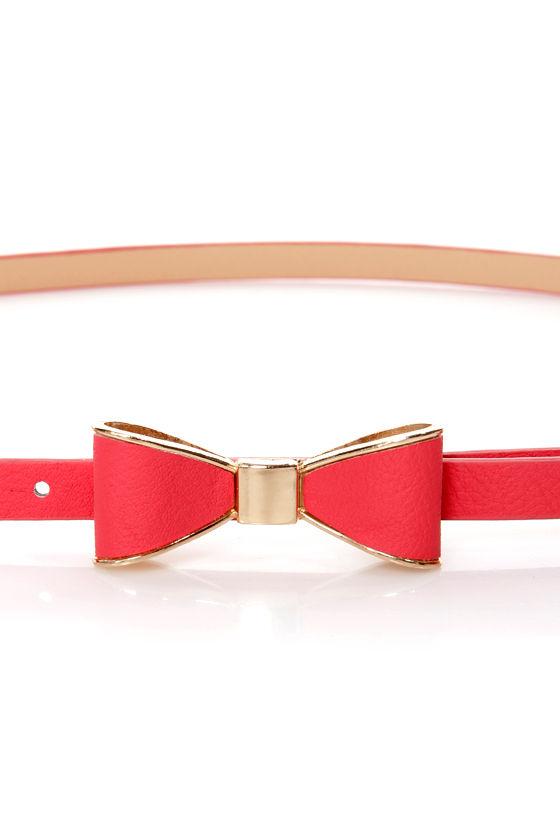 Ready, Set, Bow! Bow Skinny Belt at Lulus.com!