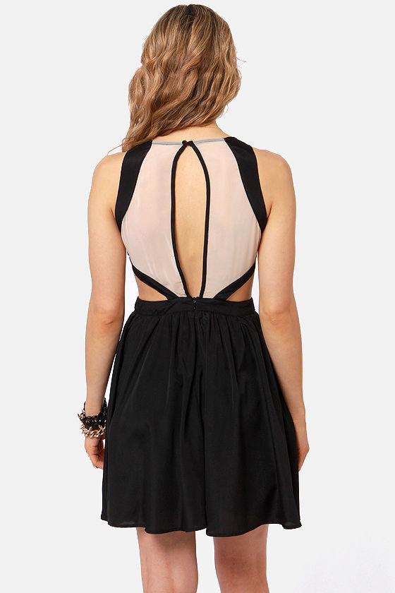 Hotter Than It Looks Black Lace Dress at Lulus.com!
