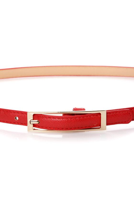 Belt It Out Red Skinny Belt at Lulus.com!