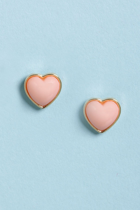 Party Heart-y Pink Heart Earrings at Lulus.com!