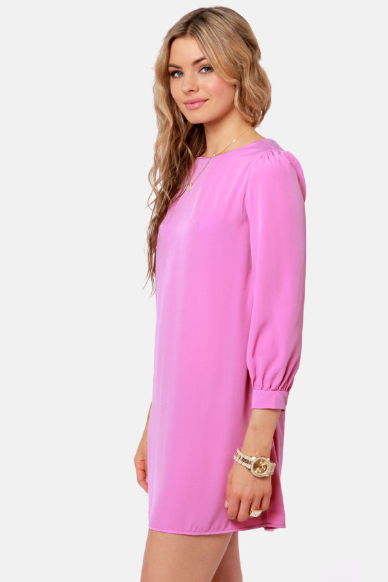 Sorbet-by Doll Lilac Purple Shift Dress at Lulus.com!