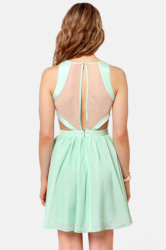 Hotter Than It Looks Mint Lace Dress at Lulus.com!