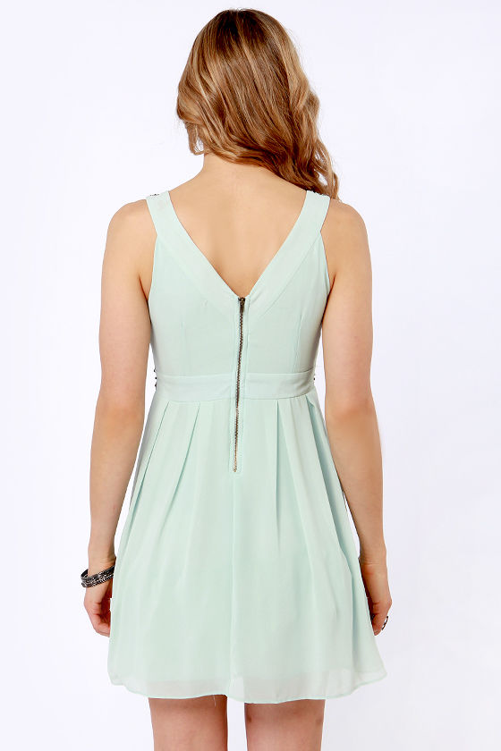 tfnc bea dress mint green dress beaded dress 115 00