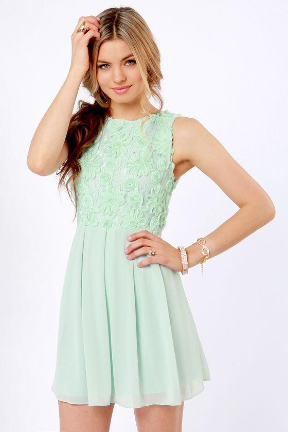 TFNC Sarah Dress - Mint Green Dress - Lace Dress -  90.00 ec5e59d3b