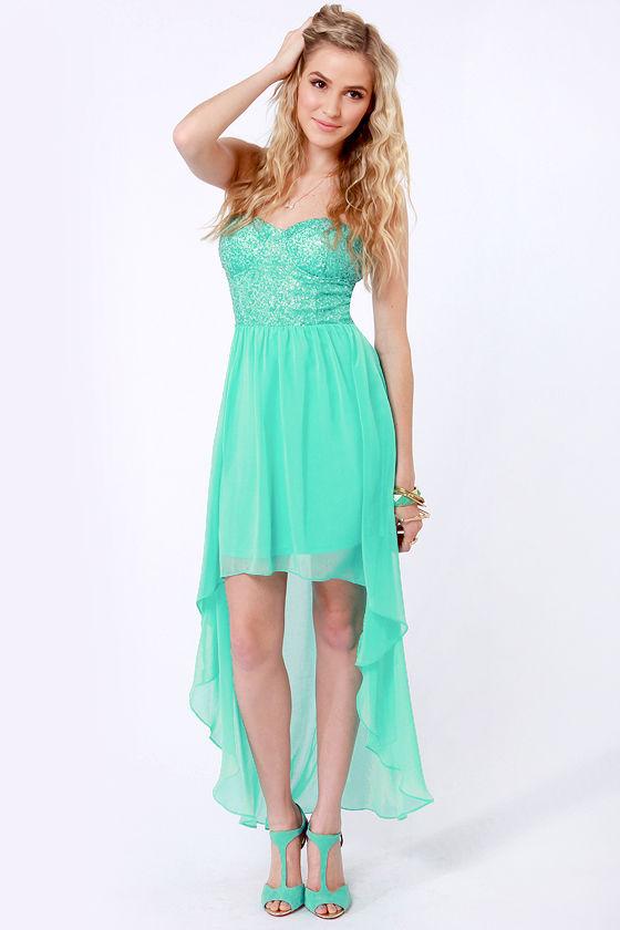 Teal Sequin Dress