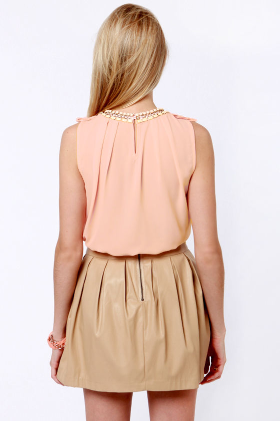 Midnight Chain Peach Top at Lulus.com!