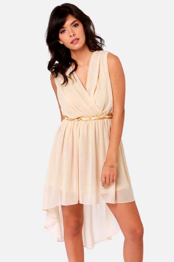 Gondola Ride Cream High-Low Dress at Lulus.com!