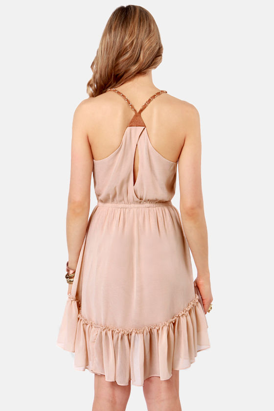 Like a Prayer-ie Beige High-Low Dress at Lulus.com!
