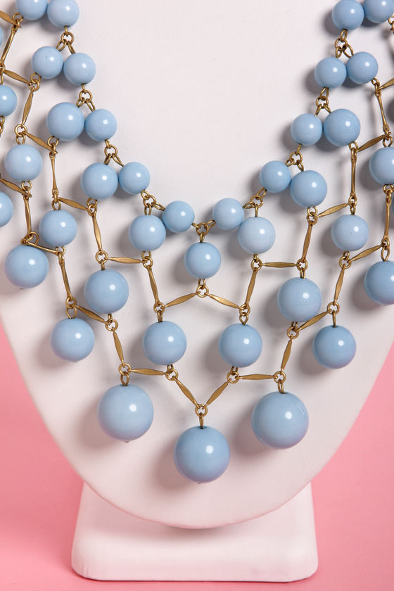 Bubble or Nothing Light Blue Beaded Necklace at Lulus.com!